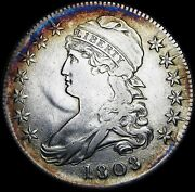 1808 Capped Bust Half Dollar ---- Stunning Details Type Coin ---- G838