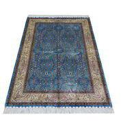 Yilong 4and039x6and039 Turkish Silk All Over Rugs Villa Handmade Carpets Handknotted 111a