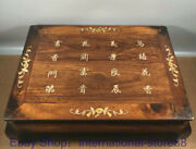 27.2 Old Chinese Huanghuali Wood Shell Hand Carving Flower Word Kang Table