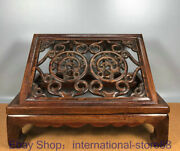 17.2 Old Chinese Huanghuali Wood Hand Carving Palace Pixiu Dragon Book Shelf