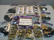 Huge Lot Of 22 Happy New Year's Eve Party Supplies Backdrop Ballon Hats Confetti