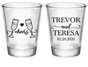 Personalized Wedding Shot Glasses Cheers To Love Wedding Favors In Bulk