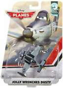 Disney Planes U.s.s. Flysenhower Jolly Wrenches Dusty Diecast Plane