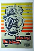There Was Once A King Czech Fantasy 1955 Werich Burian Exyu Movie Poster Zeman