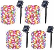 Wishlink 33ft 100leds Solar Fairy Lights Copper Wire Outdoor String Fairy