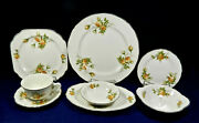 55-pieces Of Canonsburg Pottery Golden Era Pattern China W/gold Trim