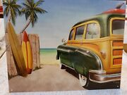New Woody Surfboards Discontinued Decorative Metal Tin Sign Made In Usa