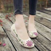 Fashion Womenand039s Shoes Beef Tendon Bottom Wedge With Ethnic Style Single Shoes