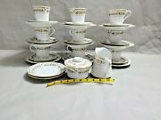 Liling Yung Shen Fine China 9 Set Of Tea Cup Saucer And Plates Andcreamer Sugar Bowl