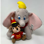 Disney Parks Dumbo And Timothy Mouse Plush Toy Doll Set New
