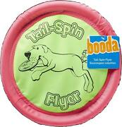 Booda Soft Bite Tail Spin Flyer Floppy Disc Dog Toy, Color Varies,