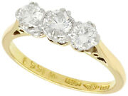 Vintage 0.83ct Diamond And 18ct Yellow Gold Trilogy Ring