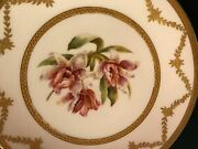 Limoges Hand Painted Orchid Plate, By Le Meage, Ovington Bros Stanhopea Martiana