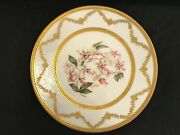 Limoges Hand Painted Orchid Plate, By Le Meage, Ovington Bros, Ny, Tandv 4