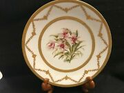 Limoges Hand Painted Orchid Plate, By Le Meage, Ovington Bros, Ny, Tandv 2