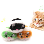 Moving Plush Mouse Funny Rat Playing Toy For Cat Kitten Pet Play Bwf