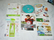Lot Of 6 Nintendo Wii Game Party Wii Sports Play Tiger Woods Wii Fit Games