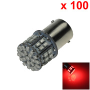 100x Red Auto 1156 Tail Lamp Indicator Light 50 1206 Smd Led T25 7008 D016