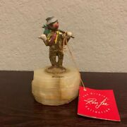 1986 Ron Lee Clown Sculpture Hobo Hitchhiking 24kt Gold
