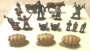 17 Vintage Barclay Manoil Mostly From Happy Farm Series Lead Figures