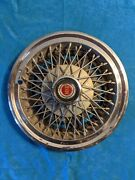 1977 - 1979 Ford Mercury Comet Cougar Granada Ltd Ii Wire Spoke Hubcap 14andrdquo