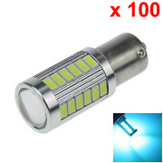 100x Ice Blue Car 1156 Replacement Light Side Blub 33 5630 Smd Led D068