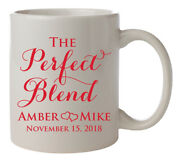 The Perfect Blend Personalized Wedding Mugs, Coffee Mug Wedding Favors For Guest