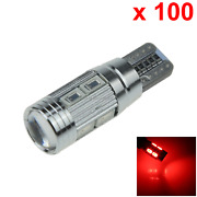 100x Red Auto T10 W5w Wedge Light Parking Bulb Canbus Error Free 10 5630 Smd Led