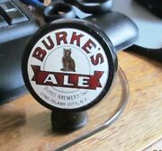 A Vintage Burke's Cat Ale Ball Beer Tap Knob Burke Brewing Long Island City Ny