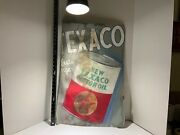 Vintage Texaco Oil Can Advertisement Sign