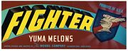Crate Label Vintage Arizona Flying Knights 9th Af Wwii Yuma Fighter Pilot Ace