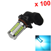 100x Ice Blue Auto 9006 Tail Lamp Exterior Light 33 5630 Smd Led Hb4 H316