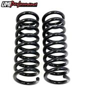 Umi Performance 3050f 1978-1988 Gm G-body Front Lowering Springs Black   1 Drop