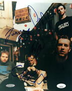 Coldplay Full Band X4 Signed Autograph 8x10 Photo -vintage Chris Martin +3 Jsa