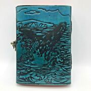 Genuine Handmade Leather Journal - New Vintage Paper Bound Writing Notebook 5x7