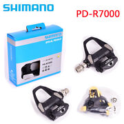 Shimano 105 Pd-r7000 Carbon Spd-sl Road Bike Bicycle Pedals Set With Sm-sh11
