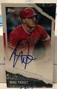 Mike Trout - 2020 Topps Rip Dare To Tear Autograph, On Card, 09/25
