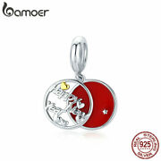 Bamoer S925 Sterling Silver Diy Charm Red Happy New Year For Bracelet Jewelry