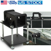 Rv Bumper Receiver Adapter 2and039and039 Hitch Mount Bike Rack Cargo Carrier Heavy-duty Us