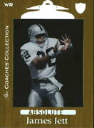 1999 Absolute Ssd Coaches Collection Silver Football Card 78 James Jett /500