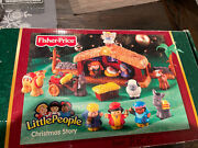 Piece Fisher Price Little People Nativity And Lil' Shepherds Set Lights Music