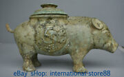 13.2 Antique Chinese Bronze Ware Dynasty Palace Boar Pig Zun Drinking Vessel