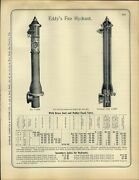 1890s Paper Ad 6 Pg Antique Eddyand039s Fire Hydrant Diagram Specs National