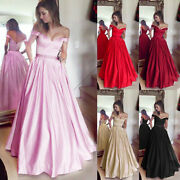 Women's Evening Party Bridesmaid Prom Ball Gown Wedding Formal Maxi Long Dress