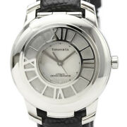 Polished Atlas Automatic Steel Leather Automatic Mens Watch Bf516896