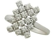 Vintage French 1.26ct Diamond And 18ct White Gold Dress Ring