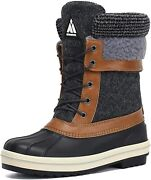 Mishansha Womenand039s Snow Boots Outdoor Warm Mid-calf Booties Anti-skid Water Resis
