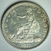 1877 United States Trade Dollar 1 Us Silver Coin Almost Uncirculated Philly Au