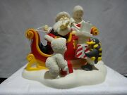 Department 56 Snowbabies Santa Claus Is Cominand039 To Town Figurine Rare 2003