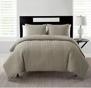 Vcny Home   Nina Collection   Soft And Cozy Geometric Embossed Microfiber Comforte
